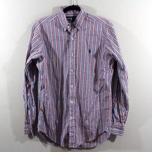 Ralph Lauren Classic Fit Striped Dress Shirt Small